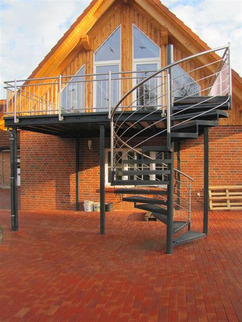 anbaubalkon mit treppe balkon anbaubalkon verzinkt wendeltreppe pulverbeschichtet ebay