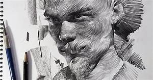 Swirling lines and swaths of charcoal form dramatic for Dramatic portraits by lee k