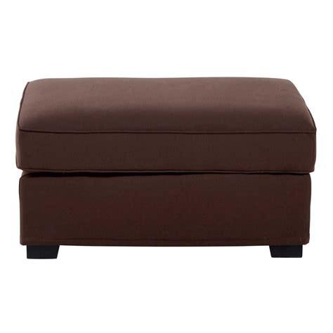 pouf de canapé pouf de canapé modulable en coton marron chocolat