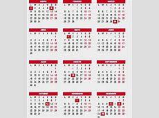 Festivos del calendario laboral 2018 fechas de la Semana