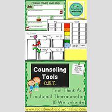 Cognitive Behavioral Worksheets (cbt) Reusable Cbt Tools For Counseling  Workshop, Cognitive