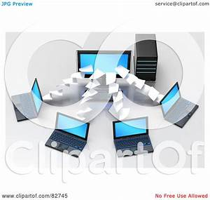 Royalty-Free (RF) Clipart Illustration of 3d Pages Flowing ...
