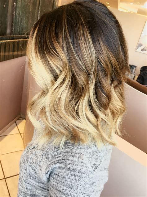 Short Ombré Blonde Hair Beauty Bag Hair Blonde Ombre