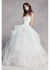 White by vera wang ombre tulle wedding dress davids bridal for White by vera wang wedding dress