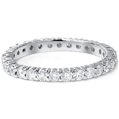 1 00ct round natural diamond eternity wedding ring 14k