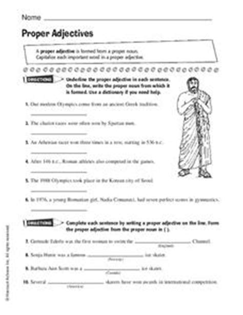 proper adjectives worksheet for 5th 6th grade lesson planet