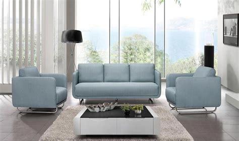 canape fauteuil ensemble design canap 3 places 2 fauteuils en tissu bleu