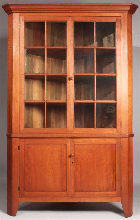 Cupboard Antique by Lot 43 Middle Tn Cherry Corner Cupboard
