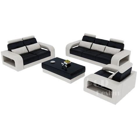 promotion canapé cuir salon set canapés personnalisable en cuir design salerno