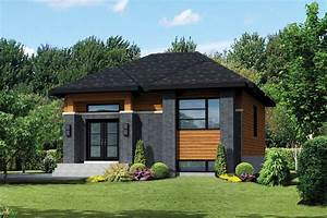 Contemporary Style House Plan - 2 Beds 1 Baths 900 Sq/Ft