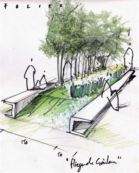 landscape architecture drawings atelier le balto drawings renderings pinterest sketching perspective and collage