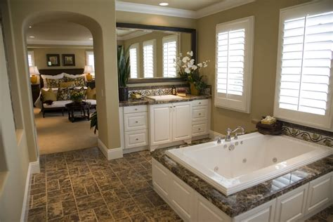 Master Bedroom And Bathroom Colors by 24 Luxury Master Bathroom Designs With Centered Soaking Tubs