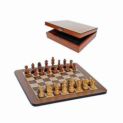 Chess Wooden Walnut Pieces Weighted Staunton Tournament