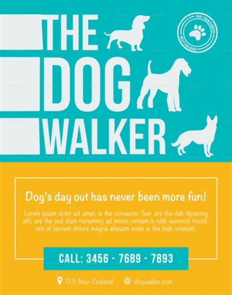 Permalink to Dog Walking Template Flyer