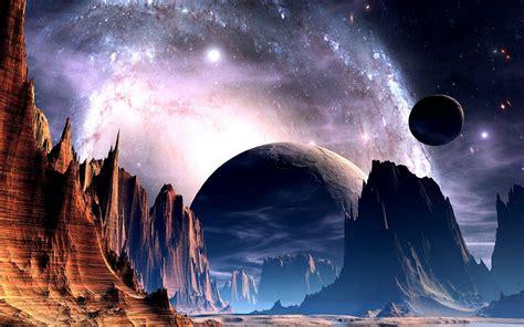 Wallpaper Science Fiction Planet Landscape Wallpapersafari