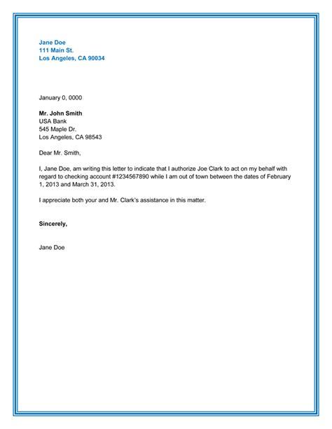 letter  authorization  represent  company