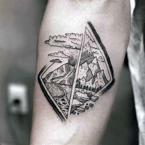 volcano tattoo designs  men erupting hot lava ink