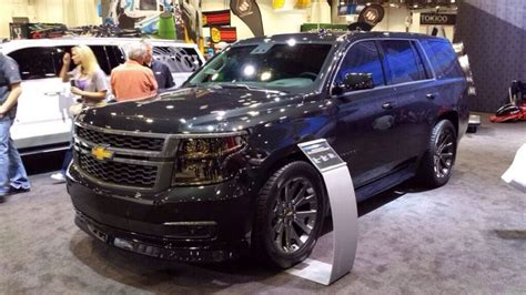Black Chevy Tahoe Wallpaper by Sema 2015 Tahoe Black Edition Pix And Others