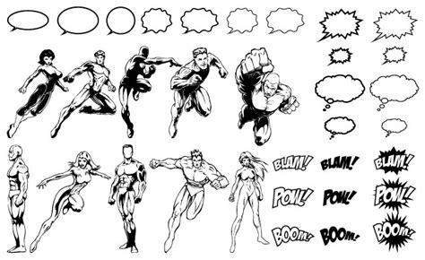 descargar templates gratis scribble drawing after effects comic book hero layer effect free