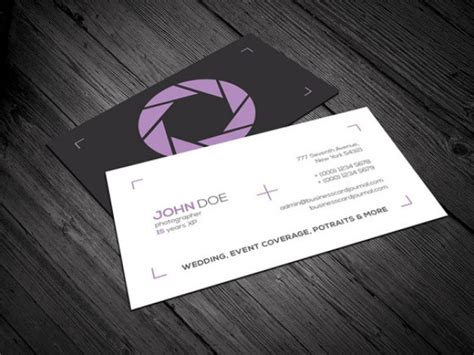 photography business card templates 20 professional business card design templates for free graphicflip