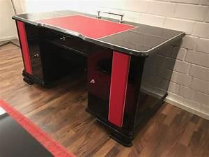Art Deco Schreibtisch : art deco schreibtisch hochglanz schwarz und handpoliert catawiki ~ Orissabook.com Haus und Dekorationen
