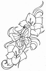 Tattoovorlagen Blumen Schmetterlinge Kostenlos Blumenranken Tattoo