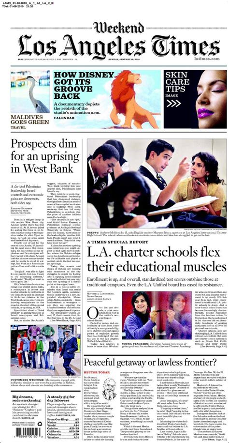 newspaper los angeles times usa newspapers  usa