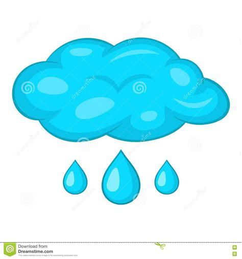 Nuvens E ícone Da Chuva Estilo Dos Desenhos Animados