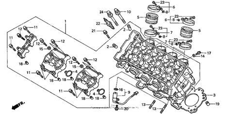 cylinder head for 2001 honda cbr900rr cbr900rr cbr954rr fire blade usa sales region