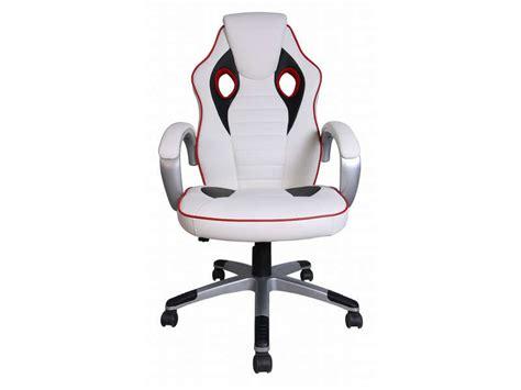 conforama fauteuil de bureau fauteuil de bureau f1 coloris blanc et noir vente