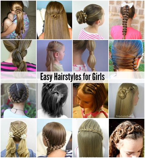 easy hairstyles for girls easy hairstyles girls and