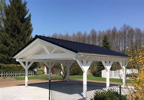 Solarterrassen Carportwerk by Carport Wei 223 Mit Satteldach Solarterrassen Carportwerk