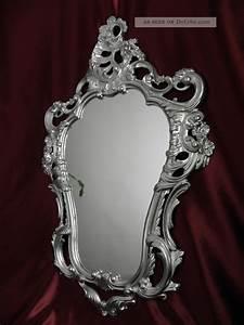 Wandspiegel Silber Antik : exklusiver wandspiegel repro antik barock spiegel silber 50x76 wanddeko 118 3 ~ Watch28wear.com Haus und Dekorationen