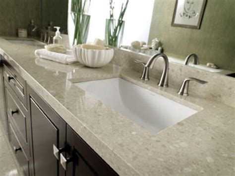 marble bathroom countertop options hgtv