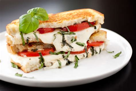 caprese sandwich caprese grilled cheese cooking classy