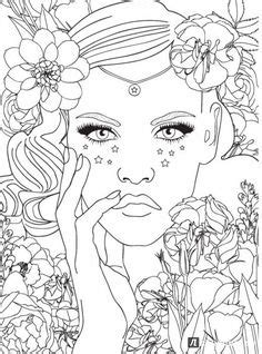 free printable adult coloring pages with long hair girls