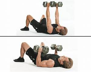 fitnes With dumbell press on floor