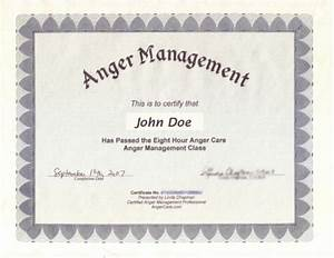10 best images of manager certificate template sample for Anger management certificate template