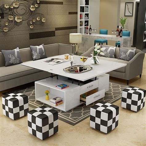 | patio & garden tables. electric multifunction foldable Coffee Table Living Room liftable and lowerable minimalist ...