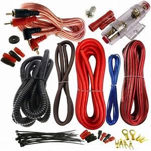Cecideal 1500 Watt 8 Gauge Red Car Amplifier Installation