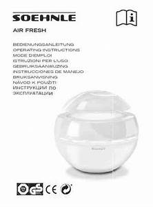 Soehnle 68040 2 Airfresh Air Cleaner   Air Purifier   Air