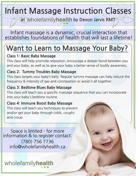 Infant Massage Instruction Classes Whole Family Health