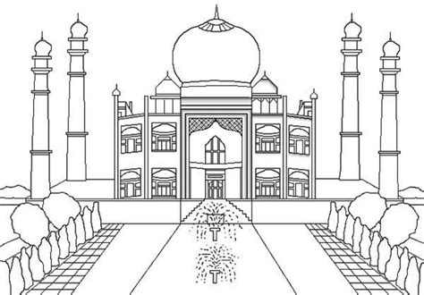 taj mahal coloring play  coloring game