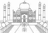 Mahal Taj Coloring India Pages Muslim Sheets Printable Drawing Game Colors Netart Jewel Places Drawings Islam Regarding Brilliant sketch template