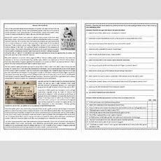 Women's History Month  Reading Comprehension Worksheet (esl, Ell, Elt) By Mariapht Teaching