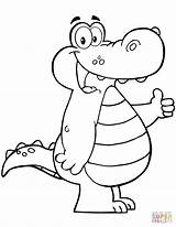Alligator Cartoon Coloring Pages Gator Crocodile Clipart Printable Alligators Mouth Drawing Open Supercoloring Sheet Print sketch template