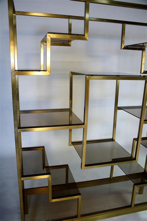 Brass Etagere by Brass Etagere Attributed To Romeo Rega At 1stdibs