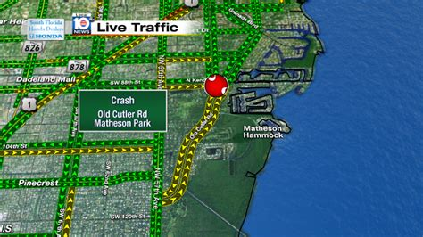 Matheson Hammock Park Map by Lanes Closed Crash On Cutler Rd And Matheson Hammock