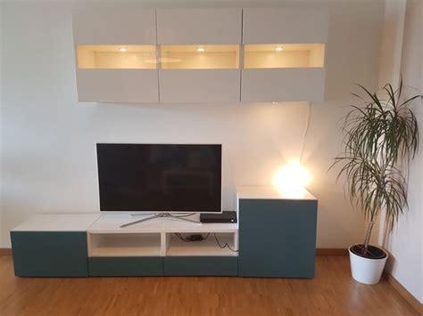 Ikea Lowboard Besta by Wohnwand Ikea Besta H 228 Ngeschr 228 Nke Lowboard Tv
