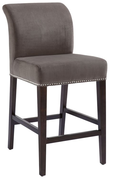 fabric counter stools prado grey fabric counter stool from sunpan 20678 3649